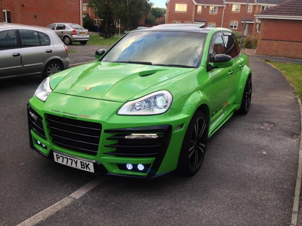 porsche cayenne 4 5 v8 s tiptronic green hurrican lambo wide arch turbo ebay cayenne. Black Bedroom Furniture Sets. Home Design Ideas