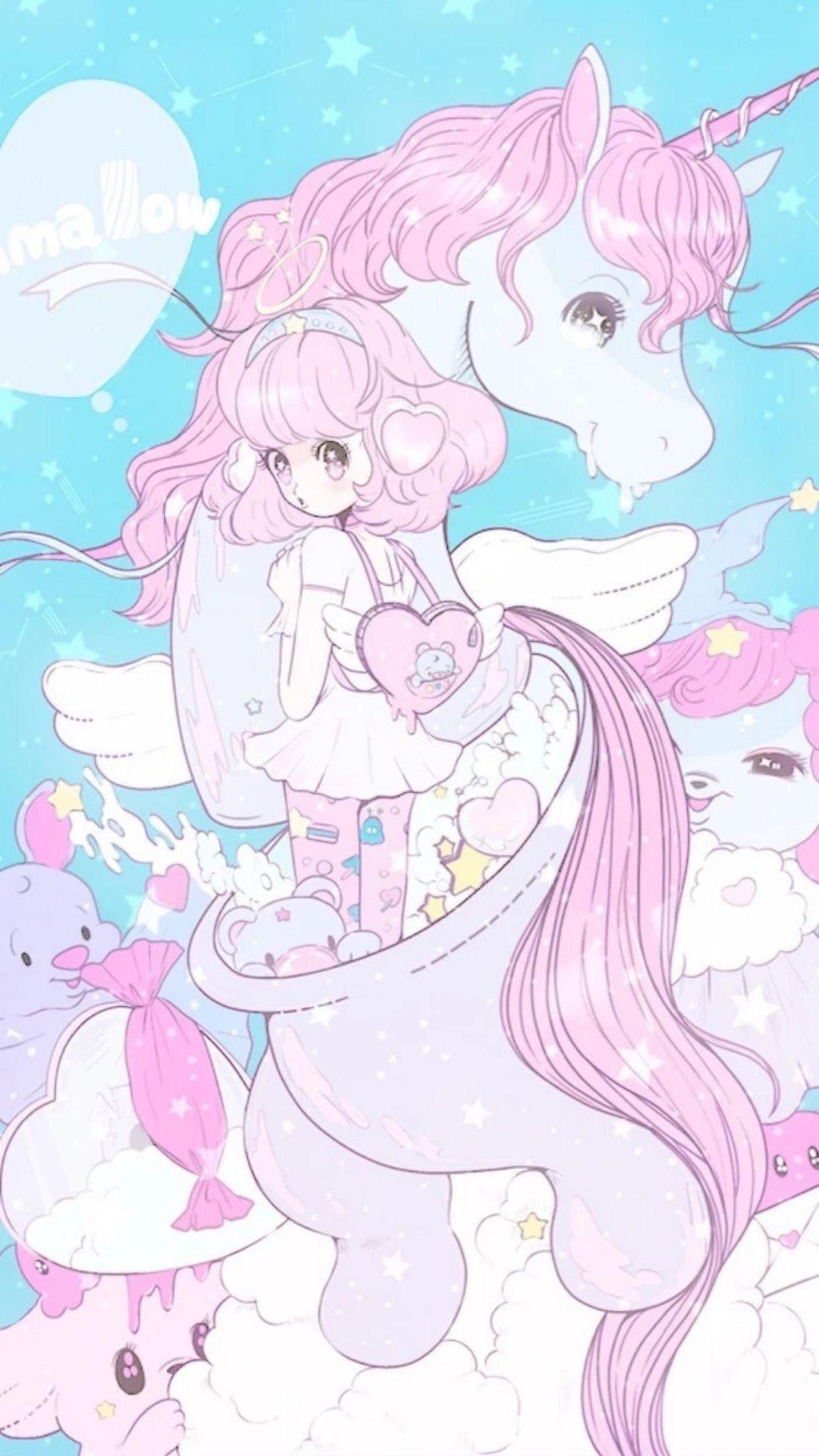 Beautiful Dream Magic Unicorn Wallpaper Kawaii Art Unicorn Wallpaper Kawaii Wallpaper