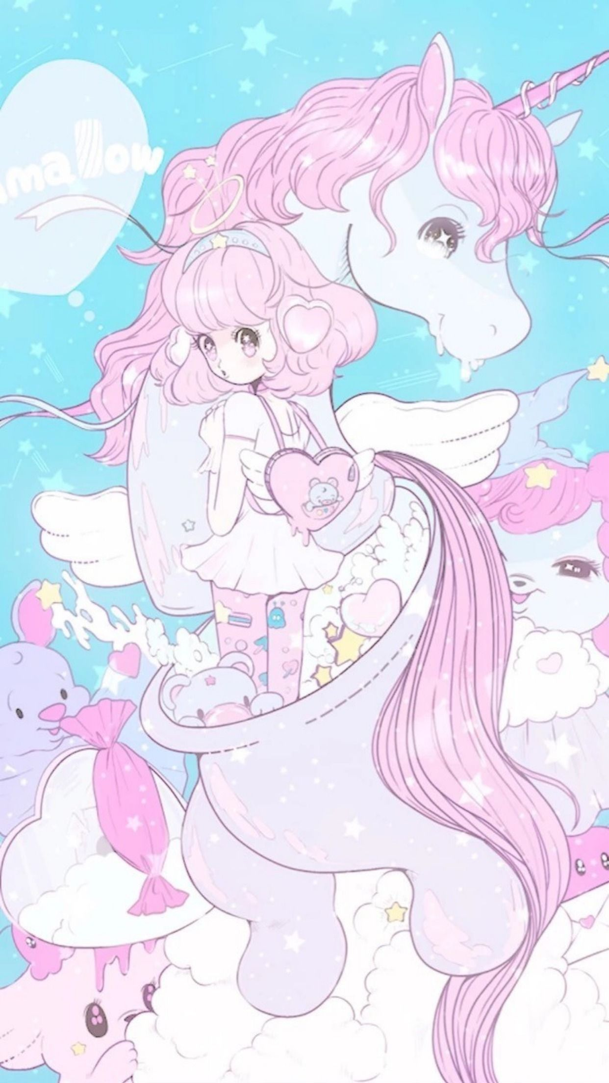 Beautiful Dream Magic Unicorn Wallpaper Unicorn Wallpaper Kawaii Art Kawaii Wallpaper