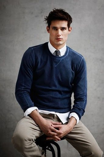 A Slim Pull Over Sweater Looks Sharp Over A Shirt And Tie Even