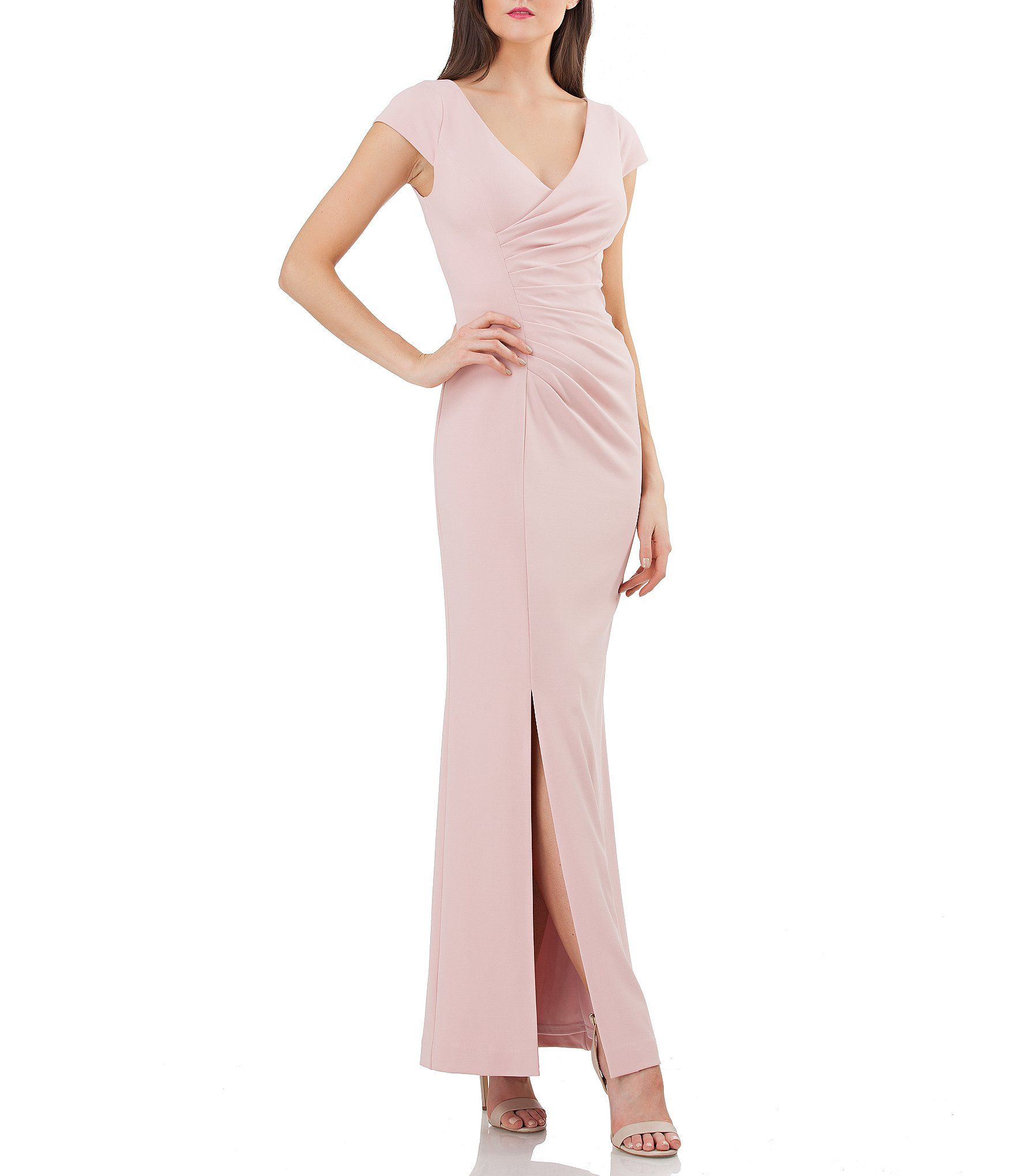 Shop for JS Collections Stretch Crepe Ruched Gown at Dillards.com ...
