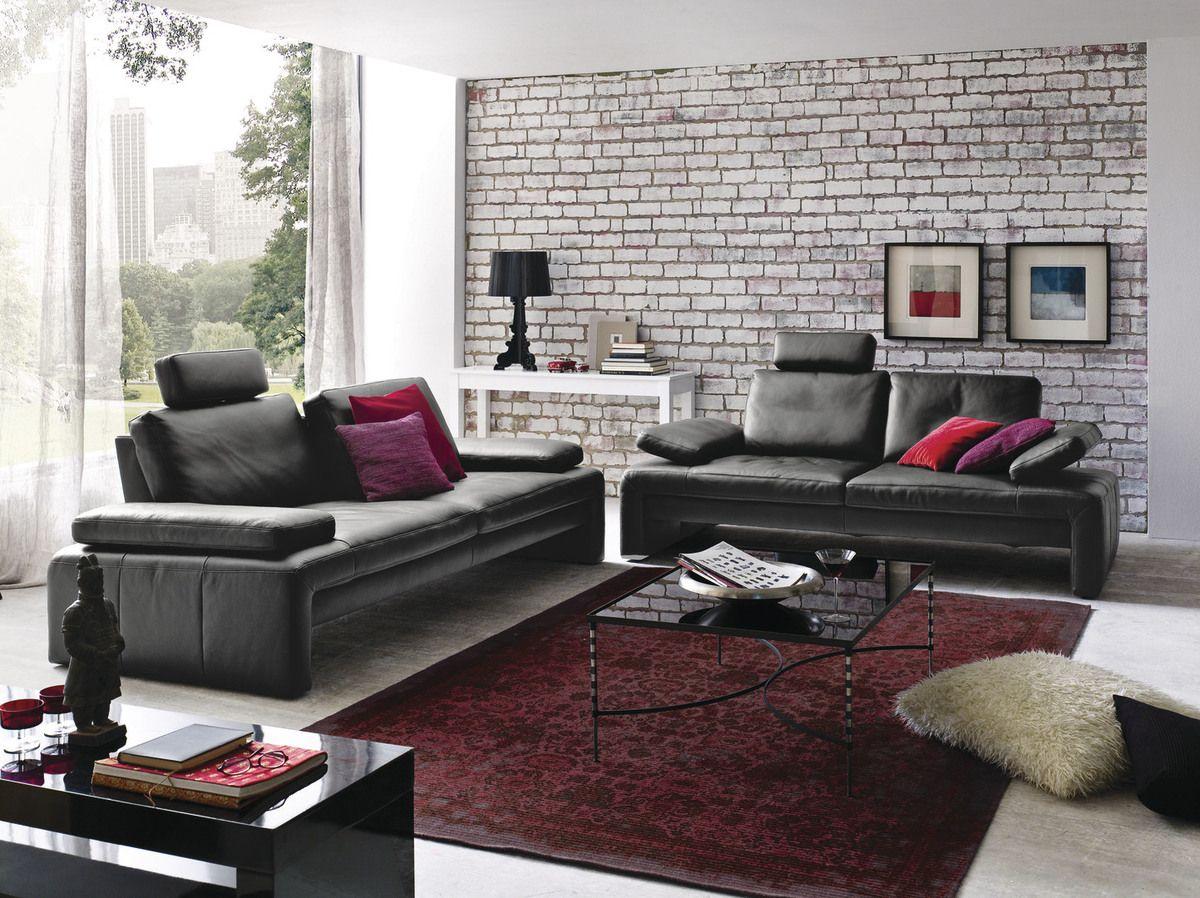 garnitur fenja modernes kubisches sofa mit sitztiefen und armteilverstellung der schwarze. Black Bedroom Furniture Sets. Home Design Ideas