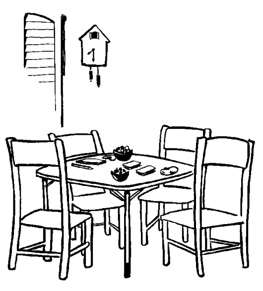 Simple Dining Room Line Art Drawing And Coloring Sheet Coloring Pages Toy House Wood Carving For Beginners