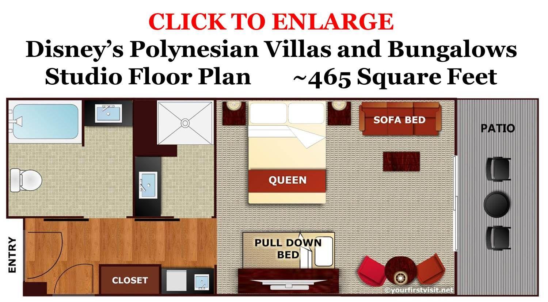 Disney Polynesian Bungalows Floor Plan: Photo Tour Of A Studio At Disney's Polynesian Villas And