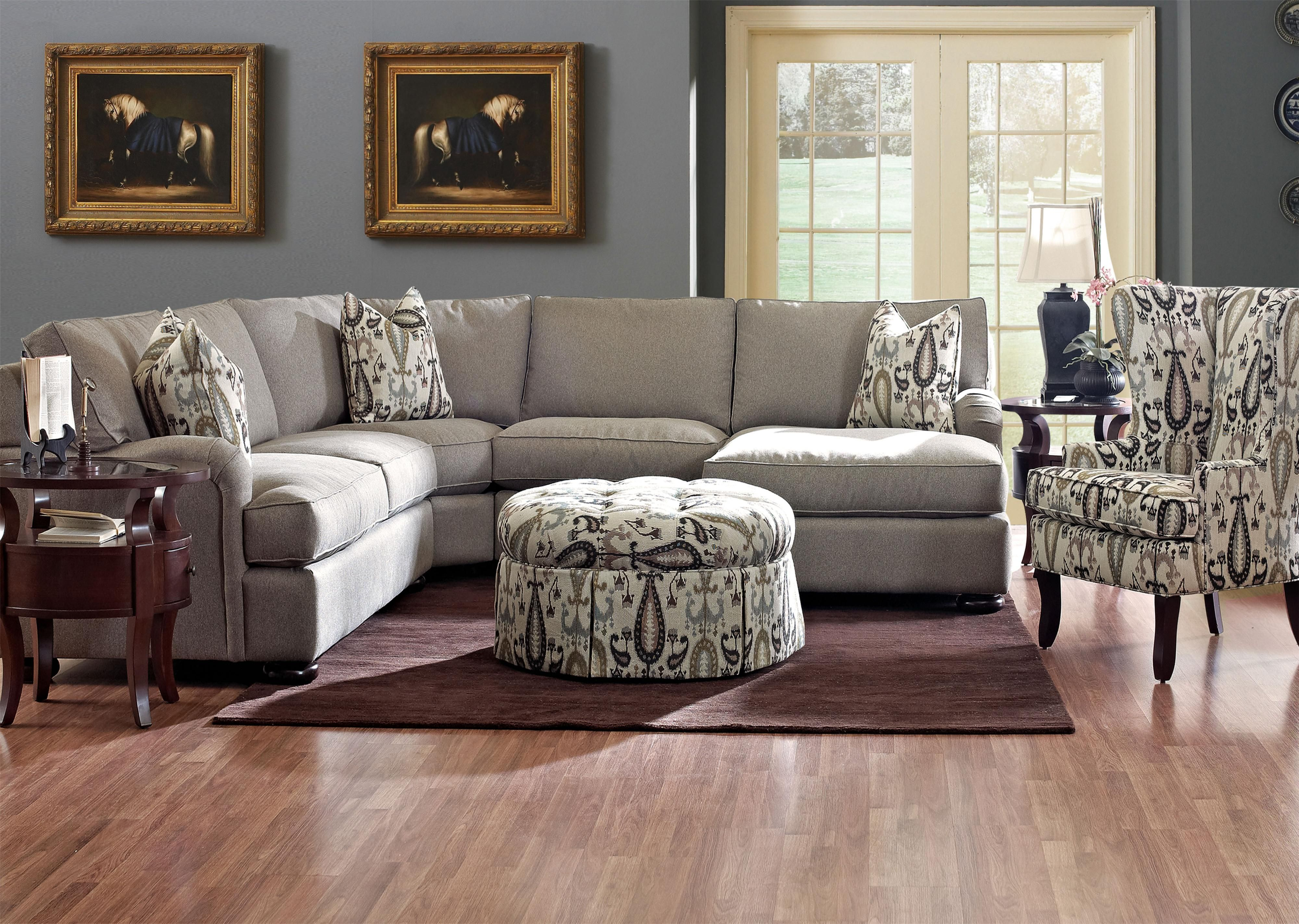 New york monroe county henrietta - Metropia Killian Traditional Four Seater Sectional Sofa With Chaise Ruby Gordon Home Furnishings Sofa