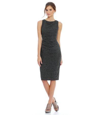 Jessica Howard Side Tucked Sleeveless Sheath Dress #Dillards
