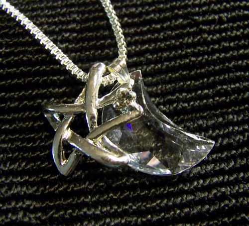 Swarovski Crystal Moon with Silver Star Pendant | mymysticgems - Jewelry on ArtFire
