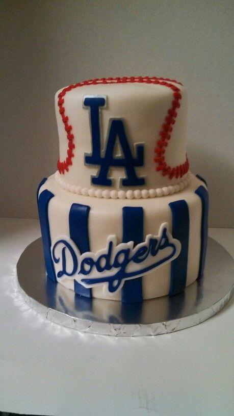 Stupendous La Dodgers Cake Dodgers Birthday Party Dodgers Cake Baseball Funny Birthday Cards Online Benoljebrpdamsfinfo