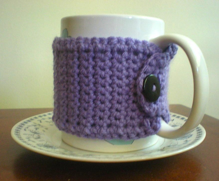 Another great mug cozy-- free pattern | Crochet mug cozy ...