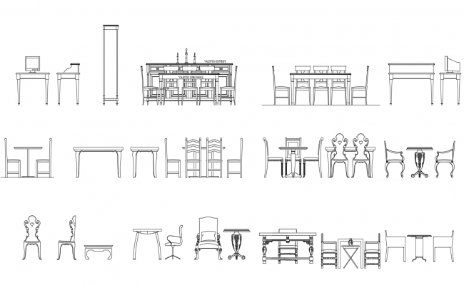 Autocad blocks of dinning table Dinning table, Table and