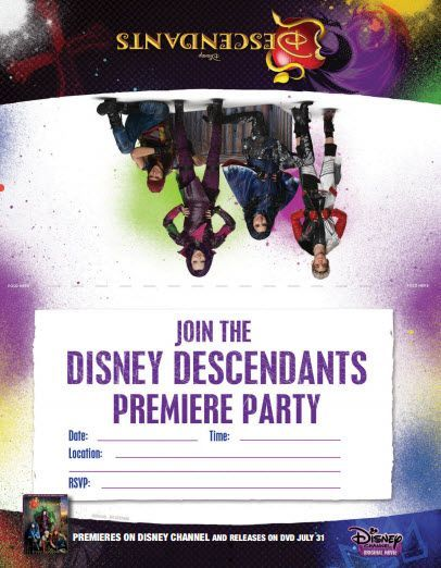 disney descendants costumes, home decor, electronics, bedding, Birthday invitations