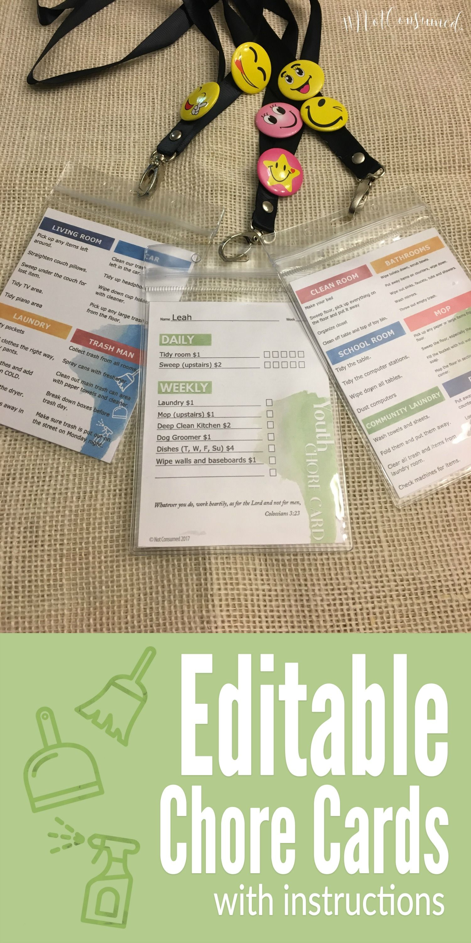Easy Printable Chore Charts For Your Family