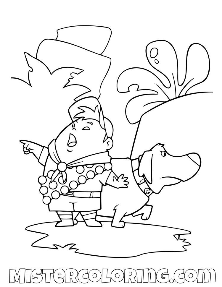 Free Disney Pixar Up Coloring Pages
