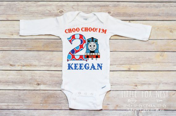 Train Birthday Shirt Toddler 2 Party T