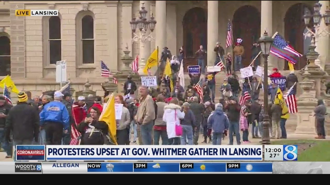 Protesters in opposition of stayhome order gather at