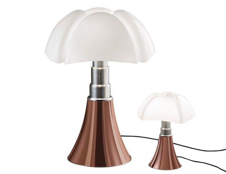 Height Adjustable Table Lamp Pipistrello By Martinelli Luce Design Gae Aulenti