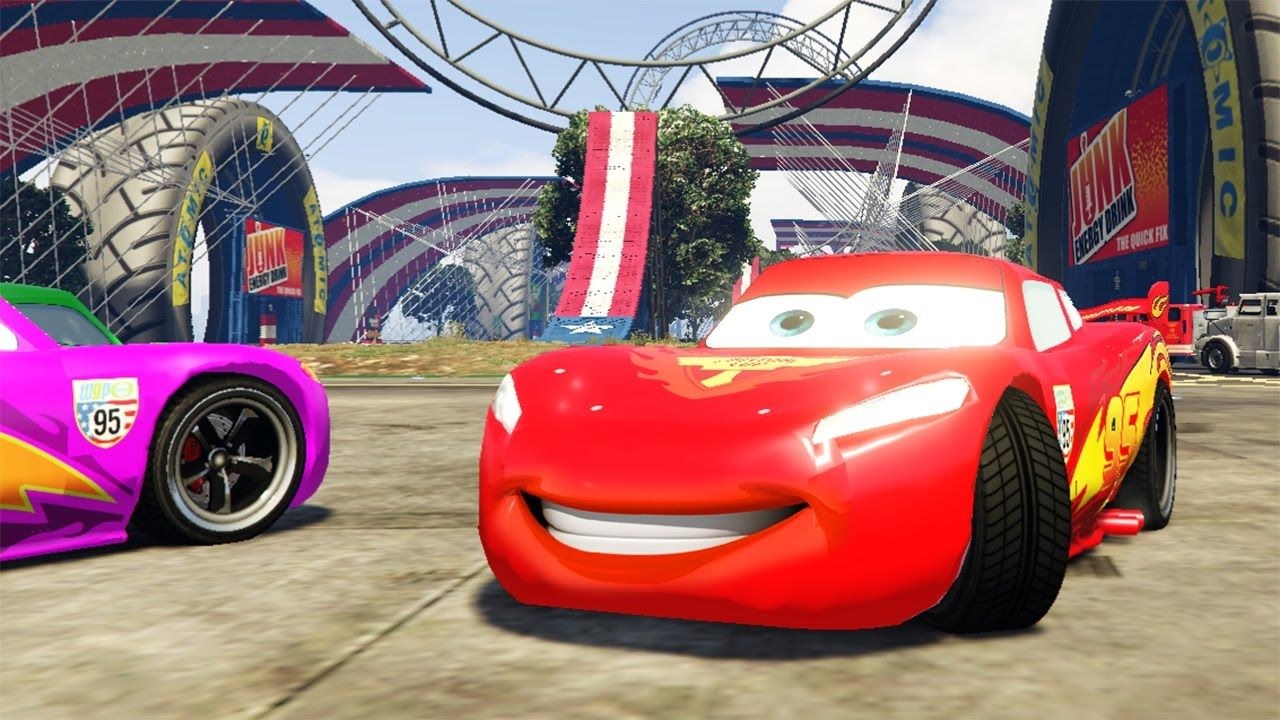 Race Cars Lightning Mcqueen In Racing Game Cars Cartoon Videos For