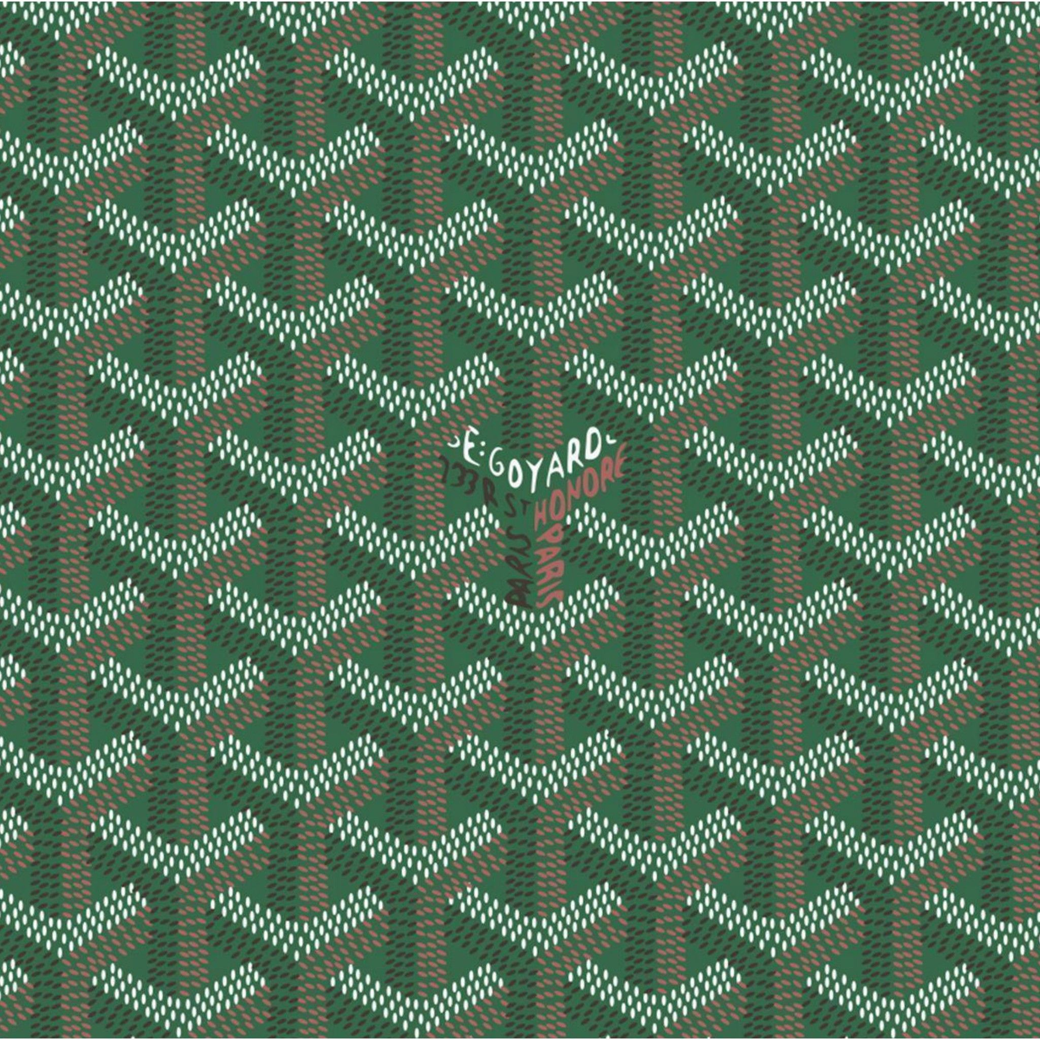 Green Goyard Pattern 2048 X 2048 Wallpapers Available For