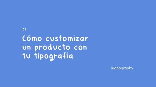 00833f3e Cómo customizar un producto con tu tipografía (Teléfono) #children #moments  #family