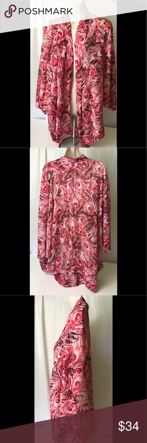 Zac Rachel Multi Pink Open Blouse Size Large In 2018 My Posh