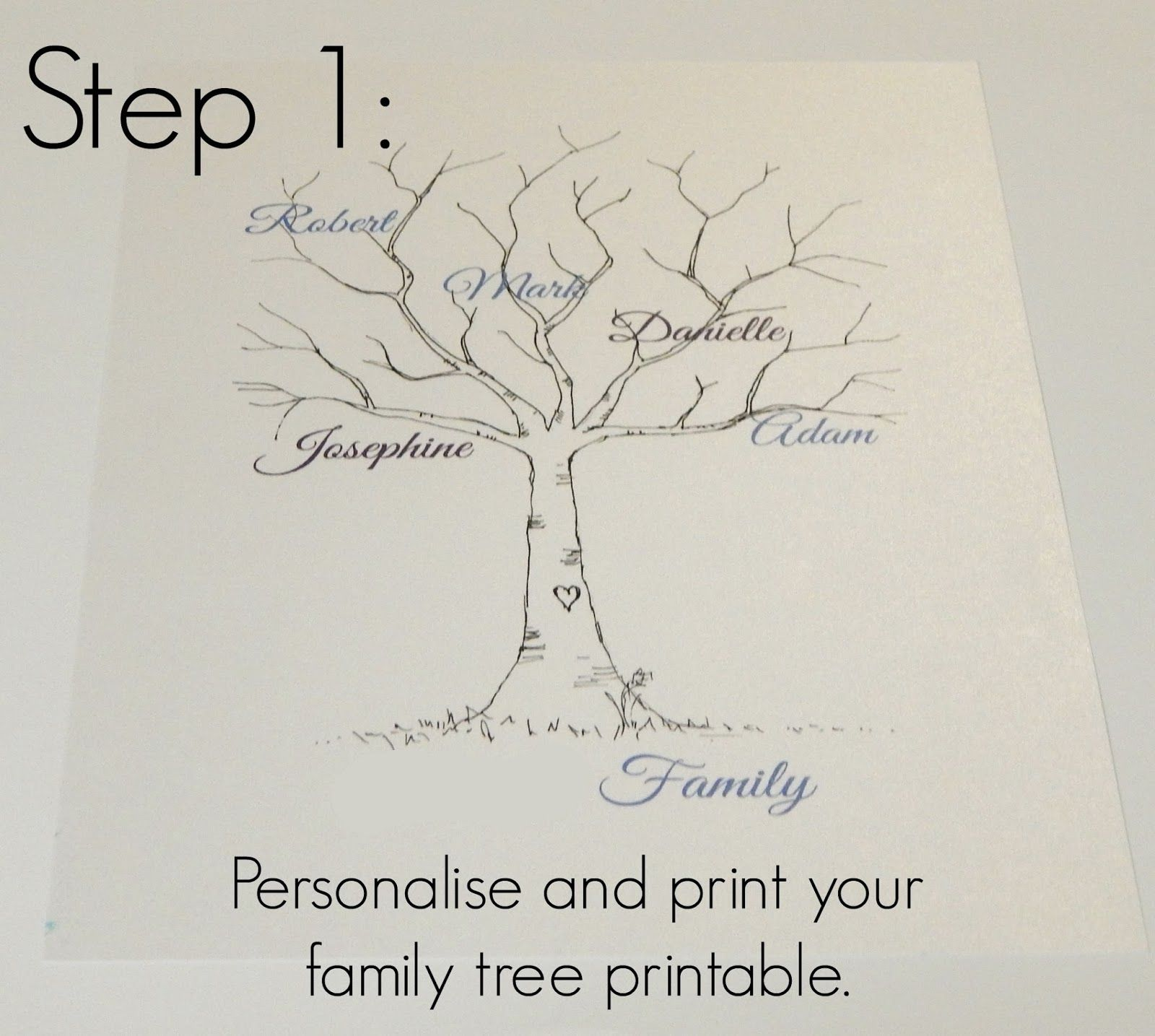 Family Tree Template Family Tree Thumbprint Template Pedigree
