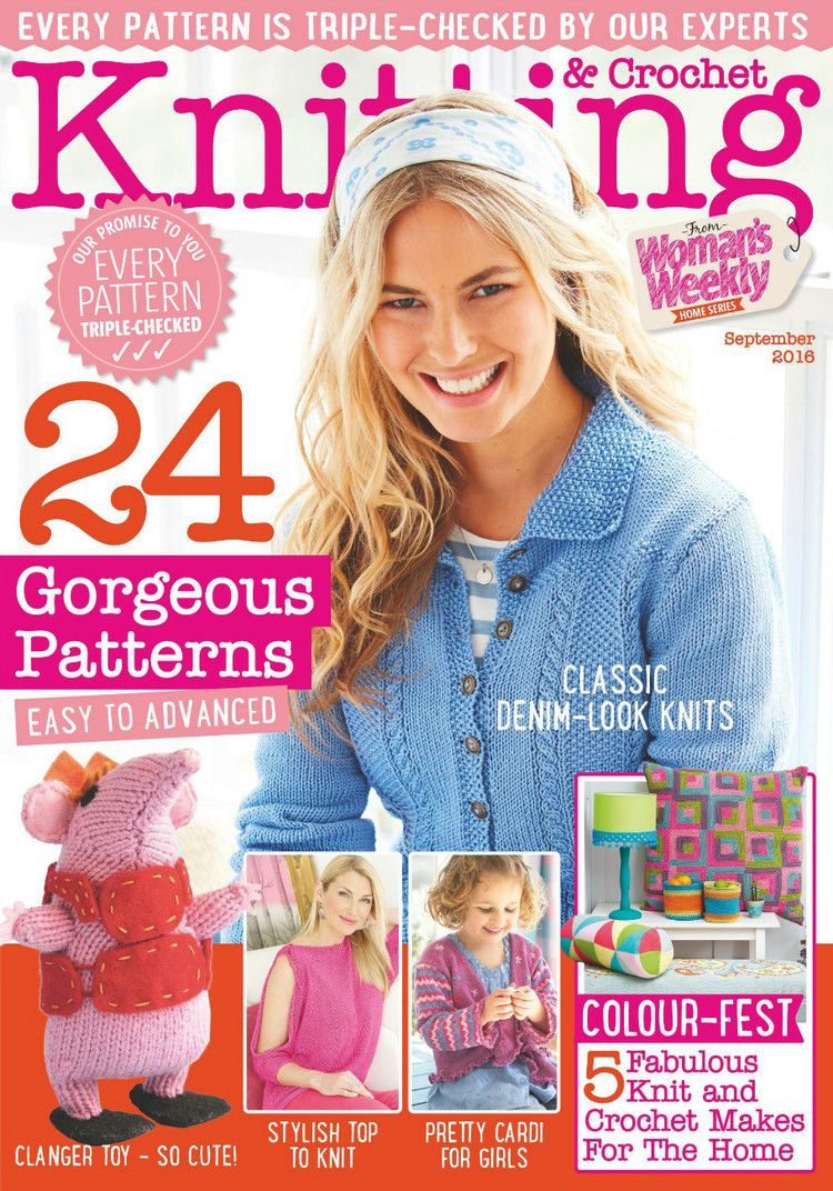 Woman\'s Weekly Knitting & Crochet №9 2016 | magazine | Pinterest ...