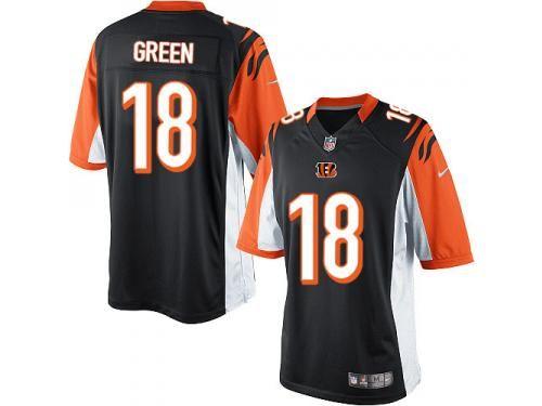 Men Nike NFL Cincinnati Bengals  18 A.J. Green Home Black Limited Jersey  forsale at http c4591fab0