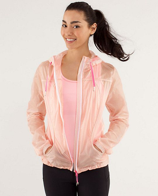 Transparent See Jacket by Lululemon $108 ~ run, to and from