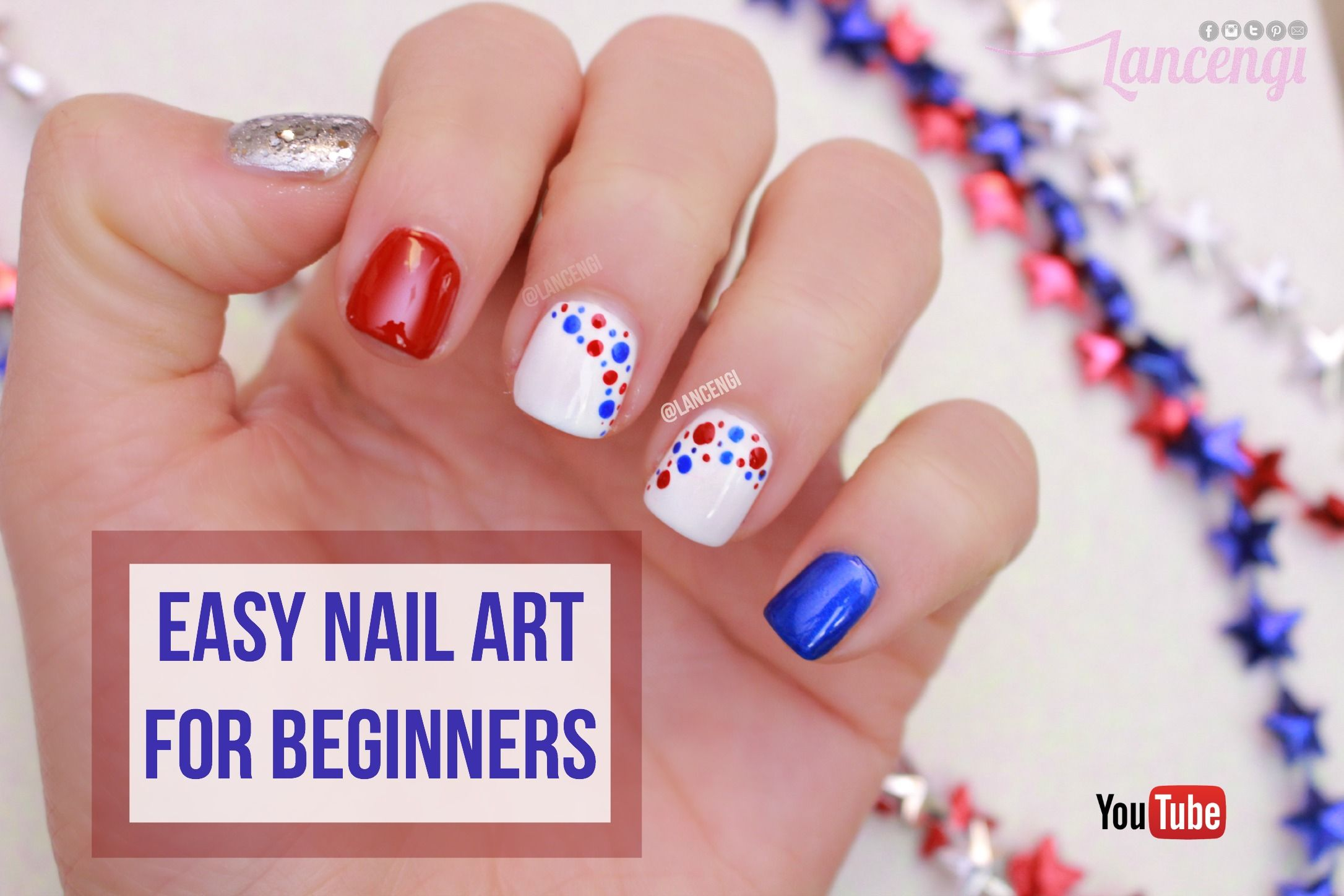 Diy Cute Easy Nail Art Polish Designs For Beginners 1 Memorial Day Simple Nails Easy Nail Art Fourth Of July Nails