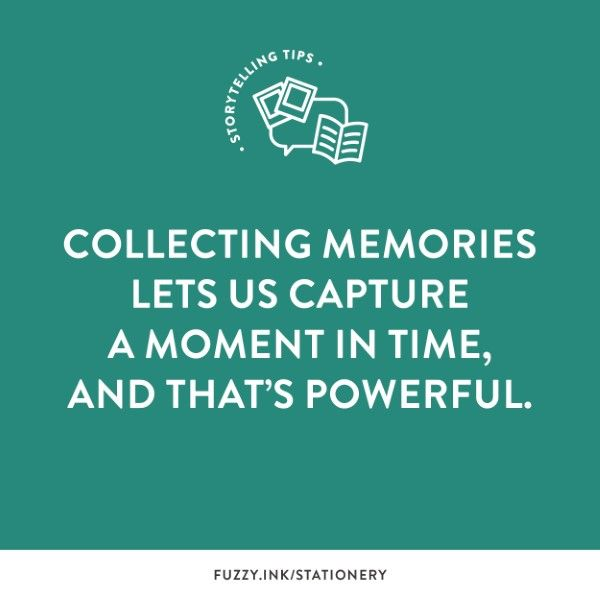 Collecting Memories Lets Us Capture A Moment In Time, And