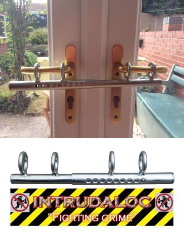 Patio Double French Door Sliding Deadlock Bolt Intruder Lock For