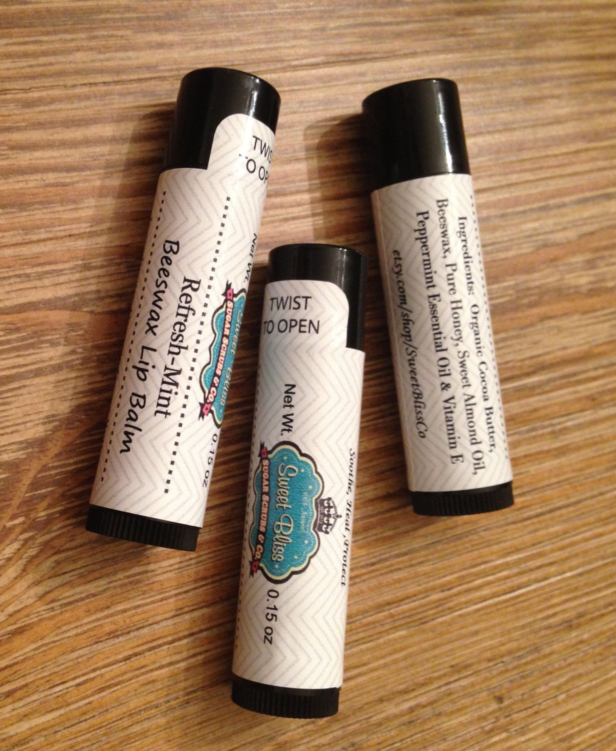 RefreshMint Beeswax Lip Balm by SweetBlissCo on Etsy, $4.00