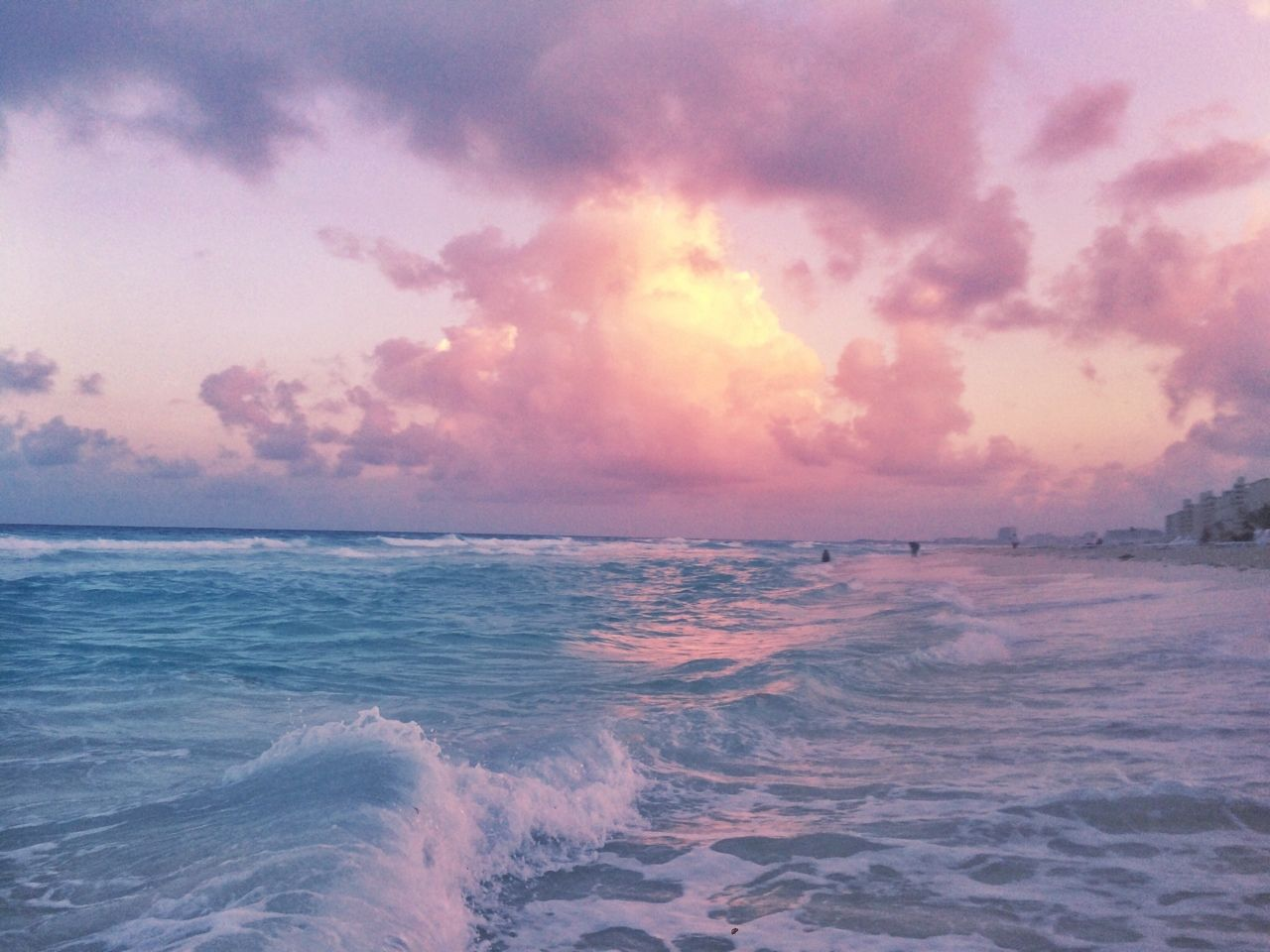 Tumblr Nknrn0oqtn1tcbeyto1 1280 Jpg 1280 960 With Images Water Painting Pink Sky Aesthetic Wallpapers