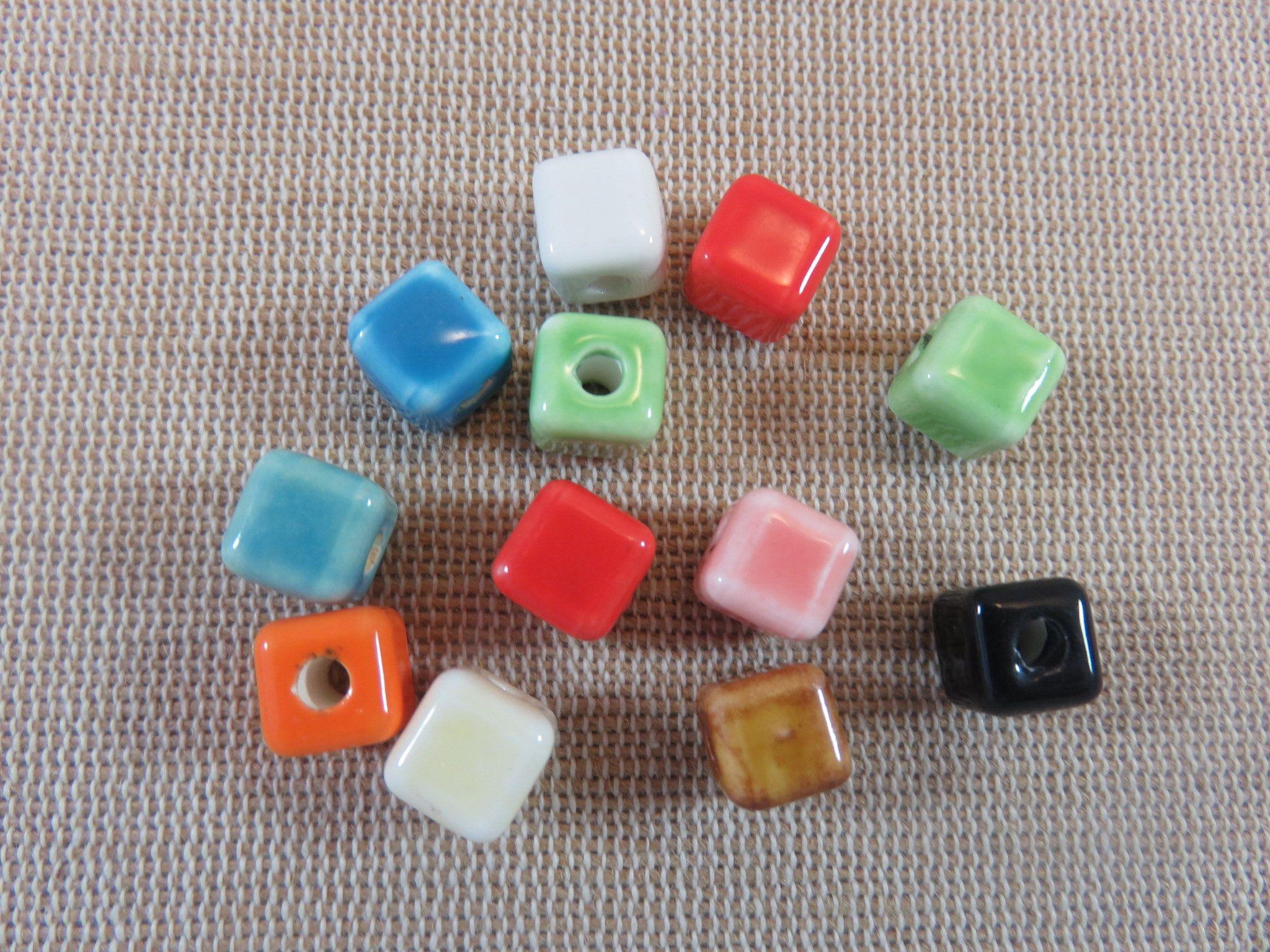 collier Lot 20 Perle Facetté Rond 8mm Acrylique Couleur Mix Creation Bijoux