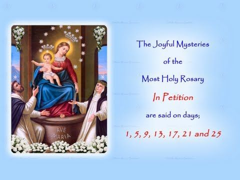 The Joyful Mysteries In Petition Annual 54 Day Rosary Novena