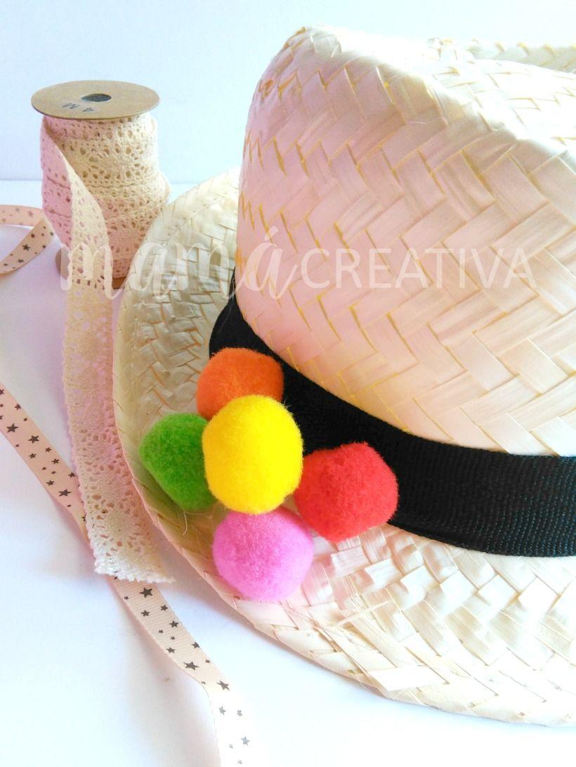 como decorar un sombrero de paja  f4482cce5ea