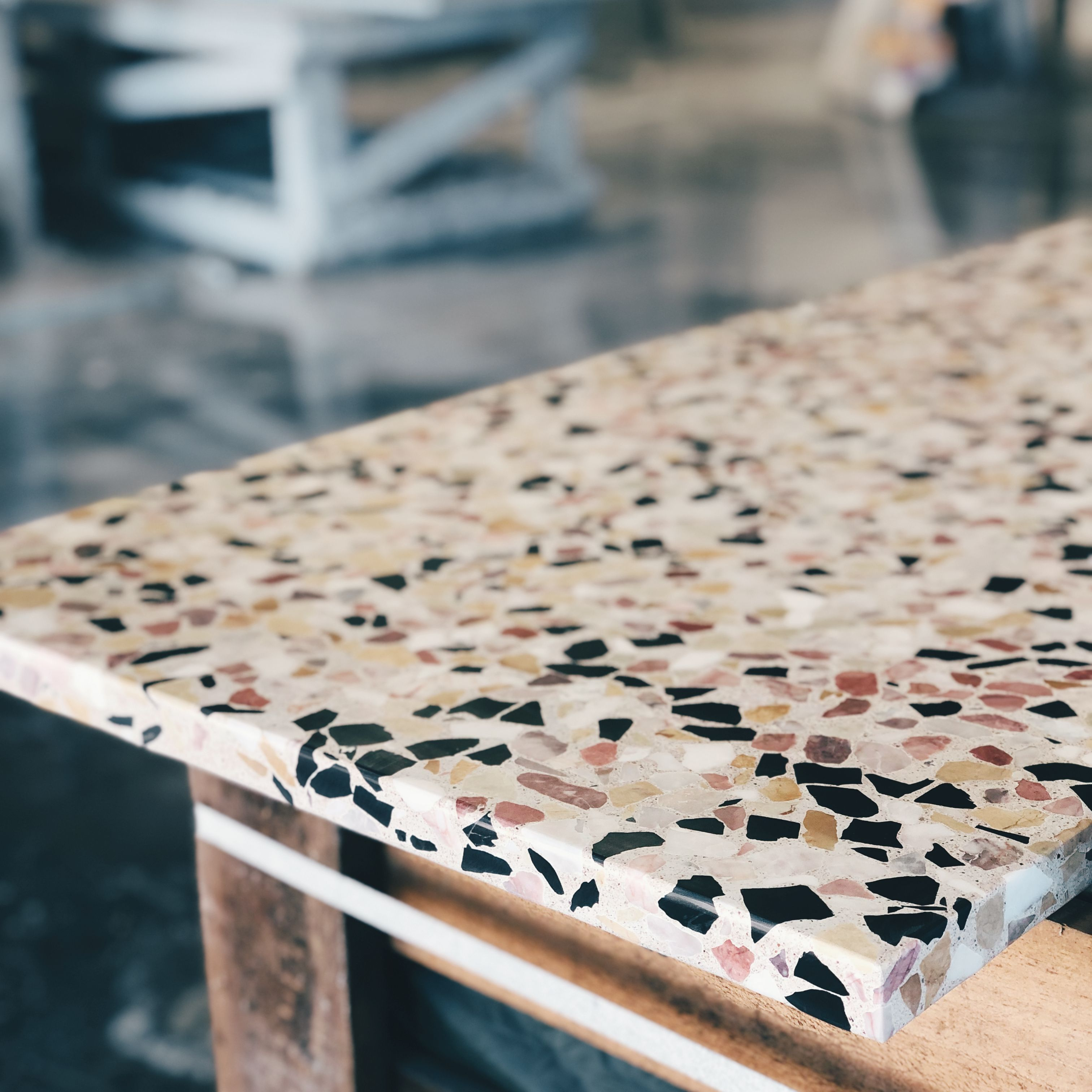 Some Factory Fun Today Fresh Terrazzo Slab Shipping Out