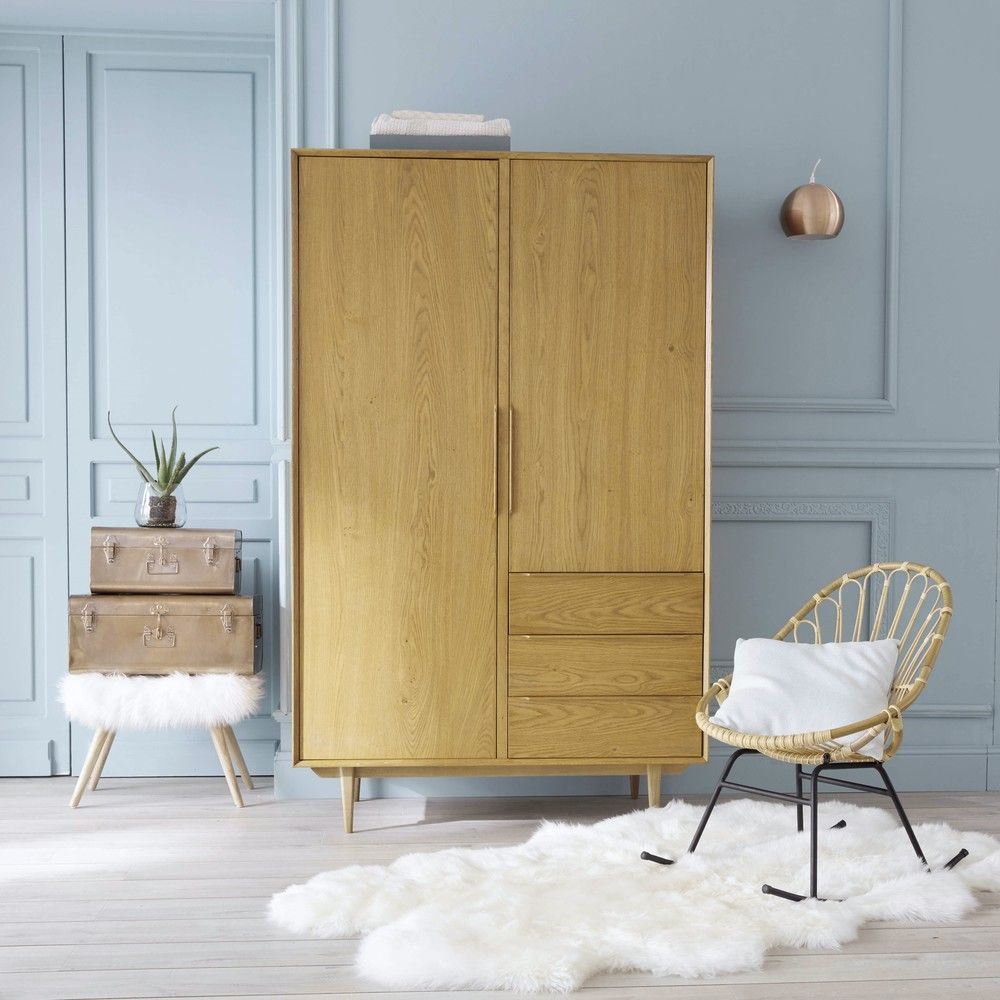 Vintage Kleiderschrank Mit 2 Turen Und 3 Schubladen In 2019