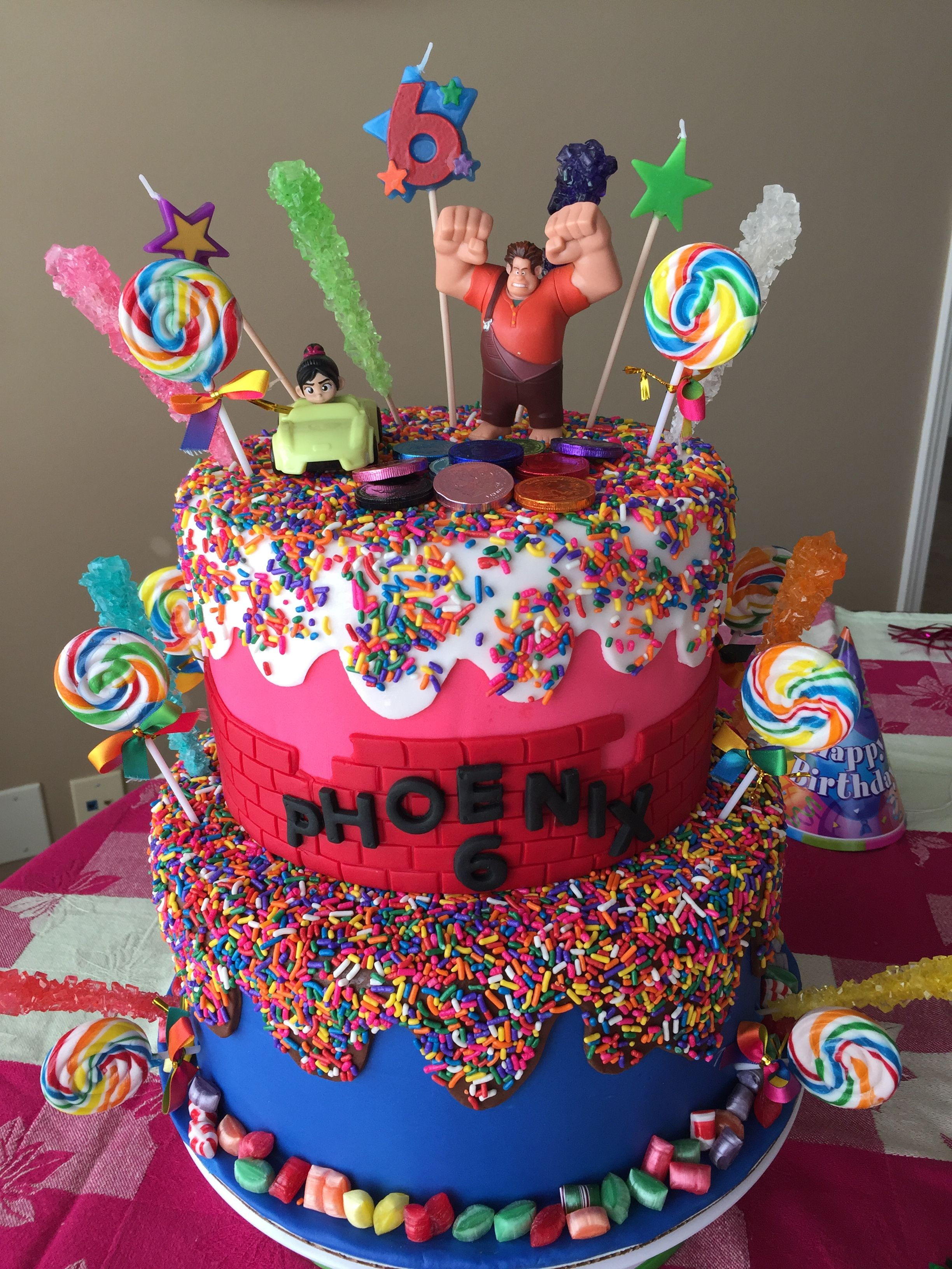 Wreck It Ralph Cake Candy Theme Birthday Party Birthday Party Cake