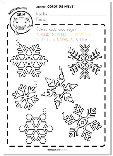 colorea navidad copos | Arte | Pinterest | Colorear, Navidad y Leer