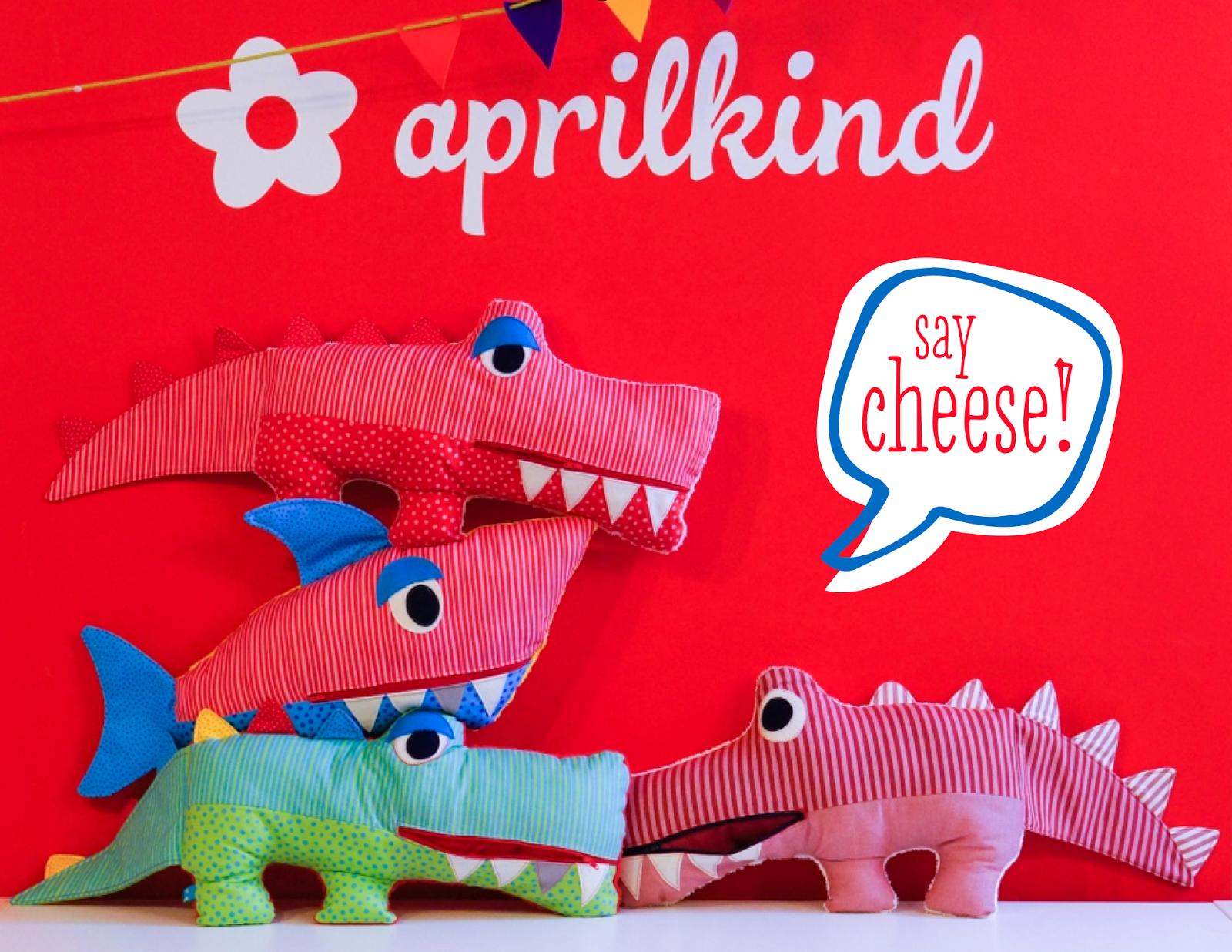 aprilkind – Näh\' dich glücklich! | ::Stofftier Dino-Krokodil-Echse ...