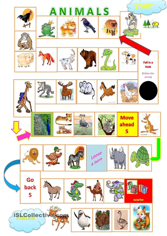 Suficiente Animals board game | Animals Gor | Pinterest | aprender Inglês  SD45