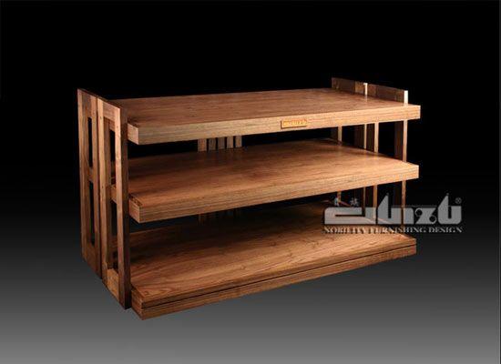 Guizu Hifi Rack Audio Rack Wood Stand Family Room Cabinet