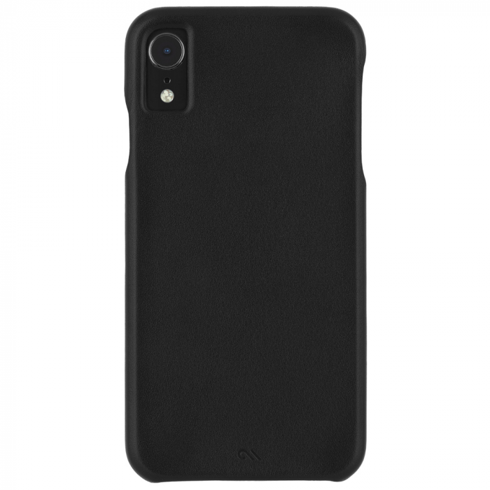 Iphone Xr Black Barely There Leather Back Iphone Leather Case Iphone Iphone Case Covers