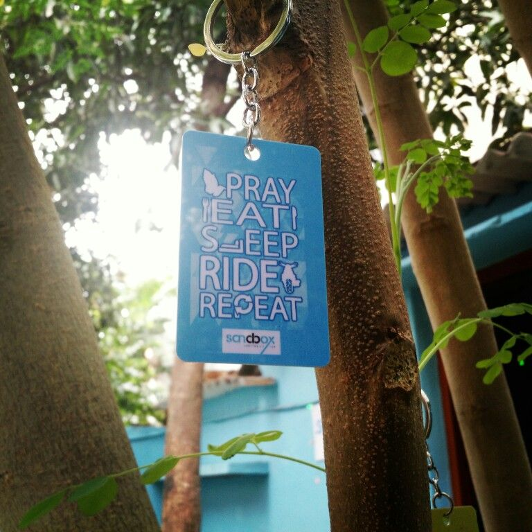 Eat Pray Sleep Ride Repeat - Key Chain