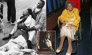 Amelia Boynton Robinson was famously pictured after being violently beaten by Alabama State Troopers during an attempted protest march fromSelma to Alabama's state capital Montgomery.