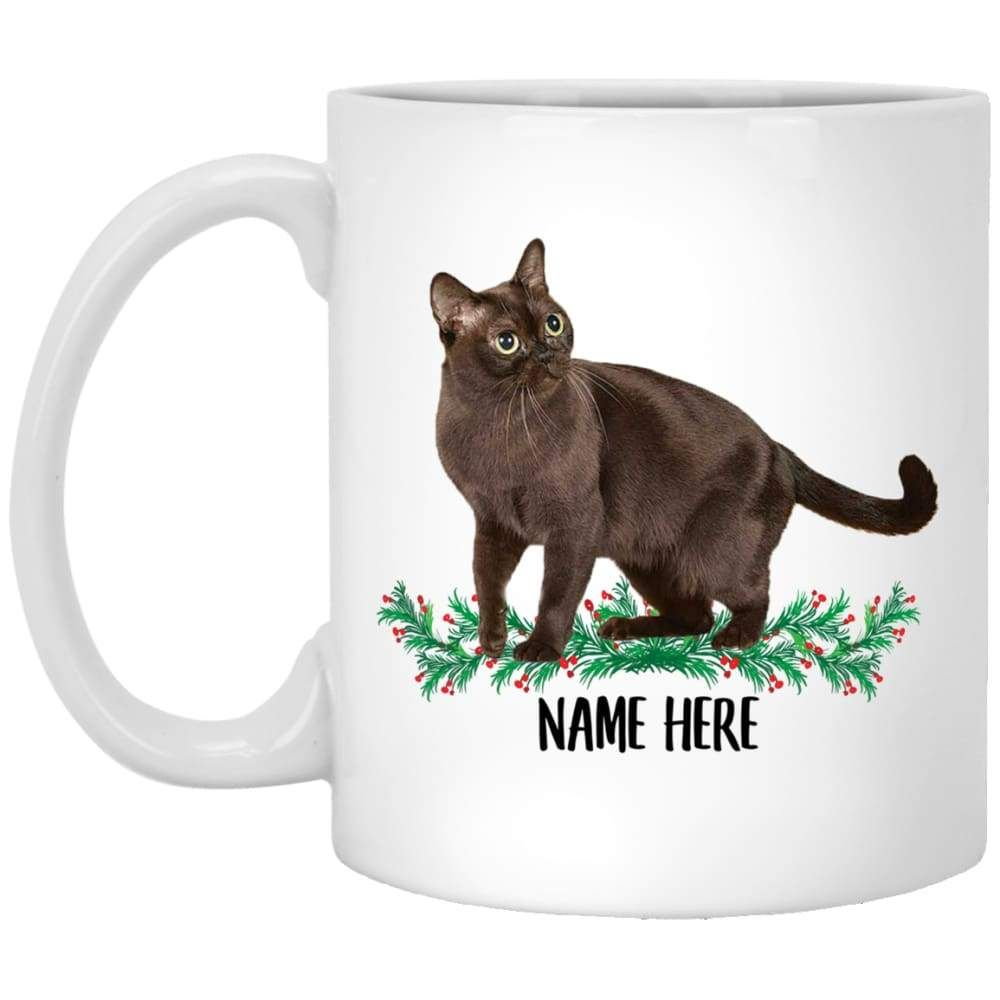 Funny Burmese Cat Black Personalized Gift For Mom White Coffee Mug 11oz In 2020 White Coffee Mugs Personalized Gifts For Mom Gifts For Mom
