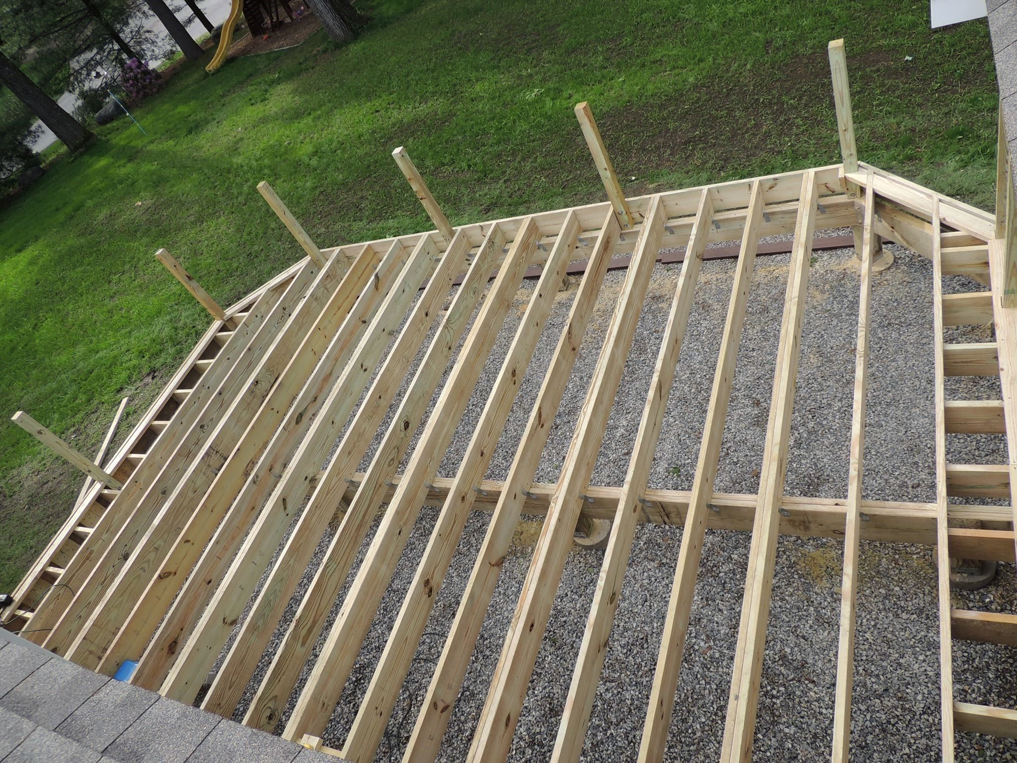 Learn about how to install composite decking topics for Timber deck construction