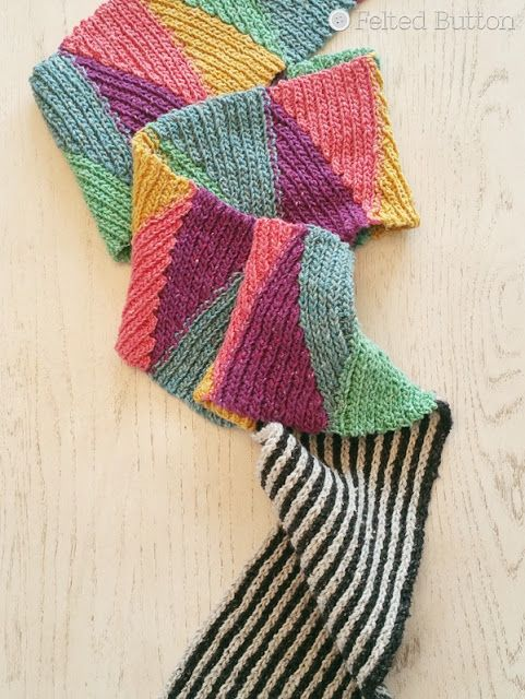 Felted Button: Long and Short Scarf - Free Crochet Pattern ...