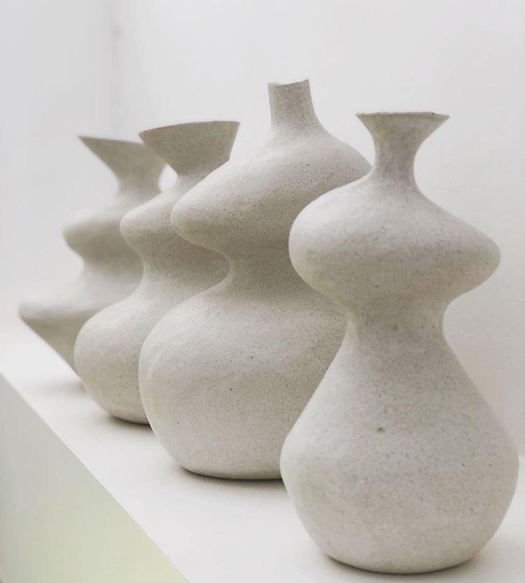 Large White Special K Stoneware Pieces With Matte White Glaze Handbuiltpottery Sculpturalceramics Australiancera Hand Built Pottery Pottery Art Ceramic Art